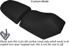 CARBON FIBRE VINYL CUSTOM FITS BAOTIAN FALCON 50 2 PIECE DUAL SEATS COVERS