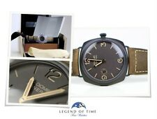 NEW Panerai Radiomir Composite 3 Days Brown 47mm PAM00504 Hand Wound Gold Hands