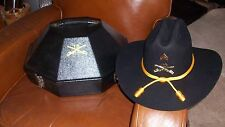 BUFFALO SOLDIERS 10TH CAV MOUNTED COLOR GUARD US ARMY TROOPER HAT W/CASE SZ S