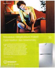 PUBLICITE ADVERTISING 075 2002  INDESIT   réfrigérateur  class A