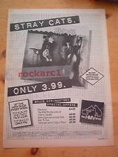 STRAY CATS 1st Album (Our Price) 1980 UK Poster size Press ADVERT 16x12 inches