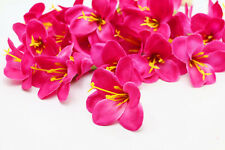 10pcs Lily Simulation Silk Flower Heads wedding Party Decor DIY ROSE RED