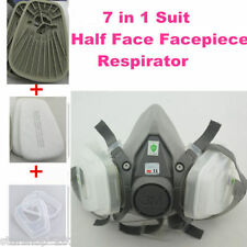 7in1 Set Half Face Spraying Facepiece Respirator For 3M 6200 N95 Dust Mask