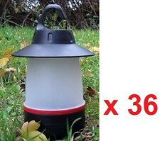 Wholesale Job Lot 36 x Triple 3 LED Lantern Light, Camping Tent Hook Lanterns