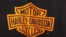 "Official Harley Davidson Blanket Throw Fleece 51"" x 56"" Orange/Black ~ 2 Sided"