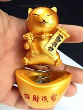 Car Dash Chinese Japanese Lucky Good Luck Waving Bobblehead Paw Up Fortune Cat s