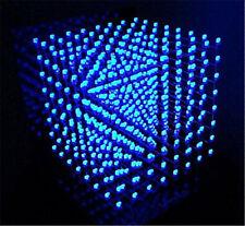 3D LightSquared 8x8x8 LED Cube White LED blue Ray DIY Kit brand new