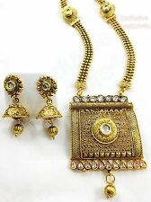 Designer Indian Gold Plated Stone Kundan Party Bridal New Necklace Jewelry Set