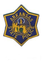 "ARKANSAS STATE POLICE -- POLICE EMBROIDERED PATCH 3""  -  NEW"