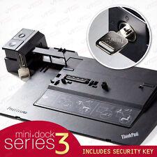 Lenovo T431s T430s T430u T410s L530 ThinkPad Mini Dock Series 3 Replicator + Key