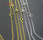 30/50/100pcs With Clasp Silver Plated Curb Chain Necklace / Chain Finding .#YK