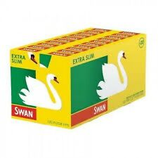 SWAN EXTRA SLIM CIGARETTE FILTER TIPS - 20 BOXES, 120 FILTERS PER BOX