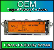 Citroen C4 display screen, RD4 radio LCD Multi function clock dash Brand New!!!