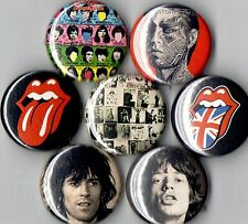 Rolling Stones 7 pins buttons badges tongue exile mick jagger keith richards
