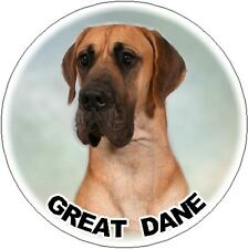 2 Great Dane Round Car Stickers No 3PL - By Starprint
