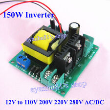150W Inverter Transformer Converter Boost DC 12V to 110V 220V 200V 280V AC/DC