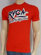 RVCA Balance of Opposites Tee Red 100% Cotton T-Shirt New NWT Mens Small
