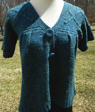 KIMCHI & BLUE URBAN OUTFITTERS Blue SS Cardigan Button Front V Neck Babydoll XS