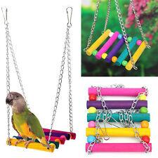 Vögel Haustier Papagei Spielzeug Schaukel Wellensittich Sitz Kletten Hängebrücke