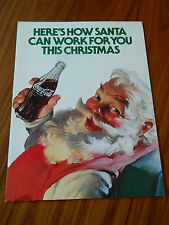 1982 COCA-COLA CHRISTMAS PROMOTION PLANNING GUIDE WITH SUNDBLUM SANTA