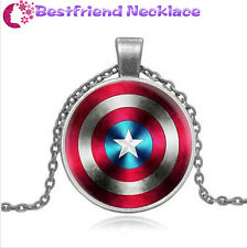 Avengers United States captain mark silver necklace for women men Jewelry#T19