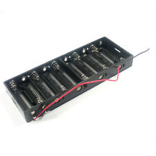 Battery Holder 10 x AA Size LR6 UM-3 Dry Cell Case 15V Box With Wire Lead Cable