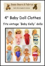 "4"" Baby Doll Clothes Pattern - Fits VINTAGE BABY KELLY"