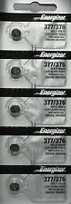 5Pcs Energizer 377 376 (SR626SW) Silver Oxide Watch Batteries