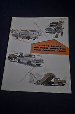 1959 How to select the RIght Truck for Your Farming Needs by Ford