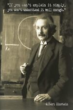 ALBERT EINSTEIN - QUOTE POSTER - 24 x 36 YOUNG SIMPLY 6624