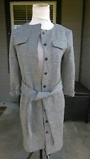 CHLOE WOOL LONG SLEEVE WOMAN'S GRAY GREY BUTTON FRONT SWEATER COAT JACKET SIZE ?