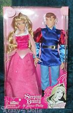Disney Designer Aurora/Sleeping Beauty & Prince Phillip 2 Classic Doll Set/Pack