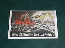 ORIGINAL JAPANESE  ADVERTISING GERMAN PROPAGANDA POSTER POSTCARD - WWI.