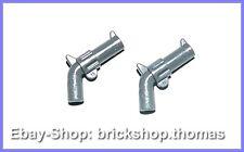 Lego 2 x Gewehr Waffen - 30132 - Weapon Gun Pistole Dark Bluish Gray - NEU / NEW