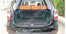 3pcs Rear Storage Double Layer Nylon Cargo Nets For SUBARU FORESTER 2009-2015 A