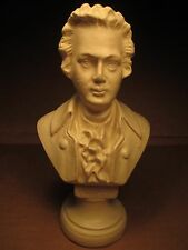 """Vintage Wolfgang Amadeus Mozart Bust Classical Music Composer Plaster? 7"""" Tall"""