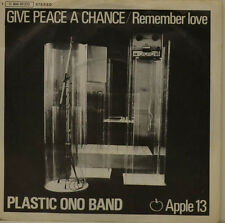 """PLASTIC ONO BAND - GIVE PEACE A CHANCE   APPLE 006-90372  SINGLE 7"""" (J245)"""