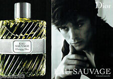 PUBLICITE ADVERTISING 056  2010  Dior  & Alain Delon (2p)  Eau Sauvage parfum