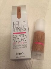 Benefit Hello Flawless Oxygen Wow Full Size Foundation Hazelnut Tan 30ml Free PP