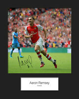 AARON RAMSEY - ARSENAL Signed 10x8 Mounted Photo Print - FREE DEL