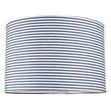 NEW LARGE BLUE NAUTICAL STRIPE CYLINDER LIGHT LAMP SHADE PENDANT CEILING DECOR