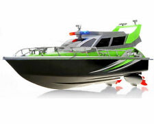 1:20 Police Patrol Cruiser RC Boat Electric Remote Control 4CH RTR Green