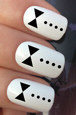 NAIL ART SET #366. x24 BLACK BOW TIE TUXEDO SHIRT WATER TRANSFER DECALS STICKERS