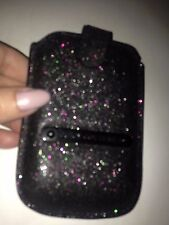 bnwt JUICY COUTURE phone case wallet black sparkly  fits mobile up to 7x11 cm