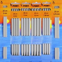 Pony 20cm Double Point Knitting Needles / Pins Choice of Size - 2mm - 10mm