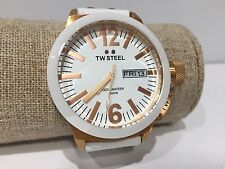 Reloj Watch Montre TW STEEL - Quartz - Ceo Canteen - White Leather CE1035