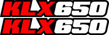 KLX650 Red Swingarm Airbox Number Plate Decals Stickers klx 650 graphics fork