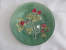 Sur La Table Bordallo Portugal Green Embossed Strawberries Leaves-Salad Plate(s)