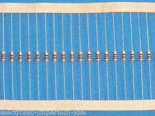100 Resistori film carbonio 10 kOhm / 0,25 W / 5%