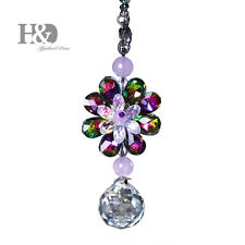 Colorful Hanging Suncatcher Crystal Flower Prism Ball Pendulum Feng Shui Pendant